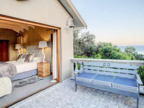 Main bedroom balcony with sea views.